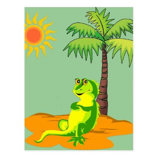 Iguana en el desierto tarjeta postal
