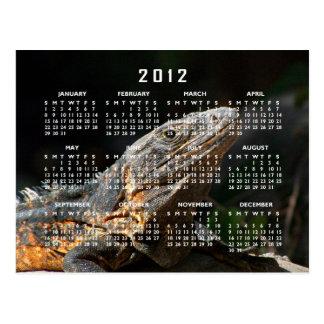 Iguana en el Sun; Calendario 2012 Postales