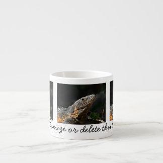 Iguana en el Sun; Personalizable Tazas Espresso