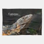 Iguana en el Sun; Personalizable Toallas De Cocina