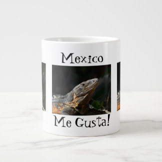 Iguana en el Sun; Recuerdo de México Taza Jumbo