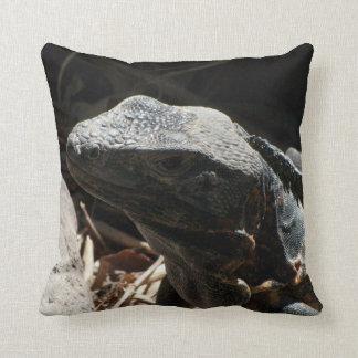 Iguana en las sombras almohada