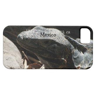 Iguana en las sombras; Recuerdo de México Funda Para iPhone 5 Barely There