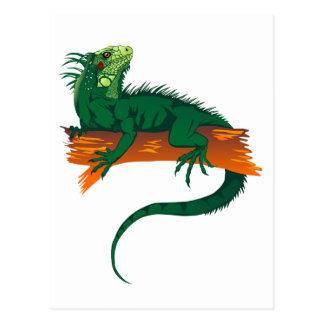Iguana en una rama postales