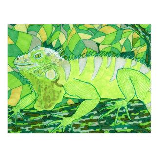 Iguana exótica postal