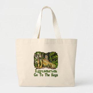 Iguana Go To The Keys Tote Bag