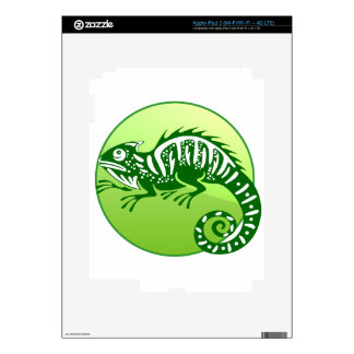 IGUANA GREEN CIRCLE PRODUCTS DECALS FOR iPad 3