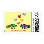 Iguana hold your hand LOVE postage