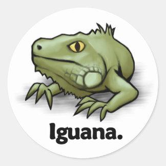 Iguana Iguana. Classic Round Sticker