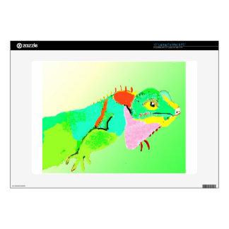 "Iguana in Color 15"" Laptop Decals"