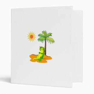 Iguana In The Desert 3 Ring Binder