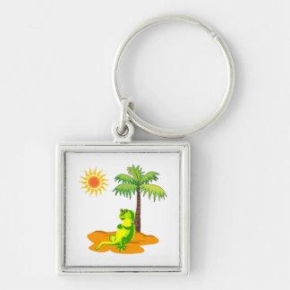 Iguana In The Desert Keychain
