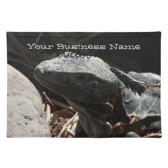 Iguana in the Shadows Cloth Placemat