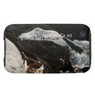 Iguana in the Shadows; Mexico Souvenir iPhone 3 Tough Cover