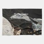 Iguana in the Shadows; Mexico Souvenir Towel