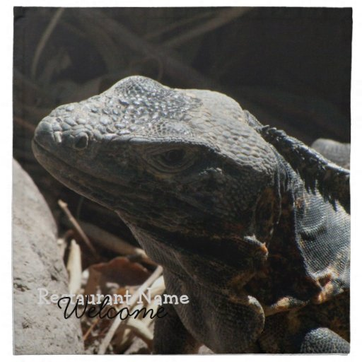 Iguana in the Shadows Napkins
