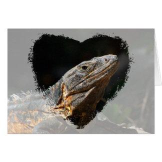 Iguana in the Sun; Customizable Card