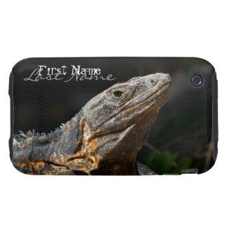Iguana in the Sun; Customizable Tough iPhone 3 Cover
