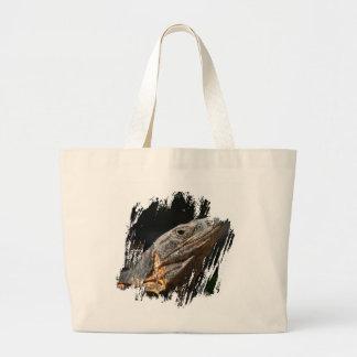 Iguana in the Sun Large Tote Bag