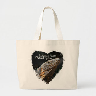 Iguana in the Sun; Promotional Large Tote Bag