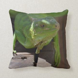 Iguana in the Tropics Throw Pillow