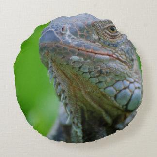 Iguana linda cojín redondo