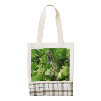Iguana linda en Bush Bolsa Tote Zazzle HEART