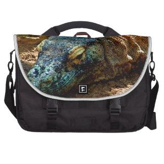 Iguana Lizard Laptop Messenger Bag