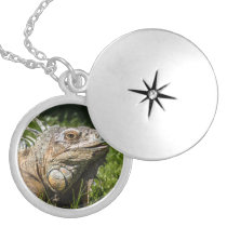Iguana Lizard Silver Plated Necklace