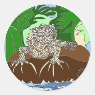 Iguana on a rock sticker