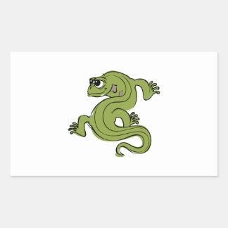 Iguana Pegatina Rectangular