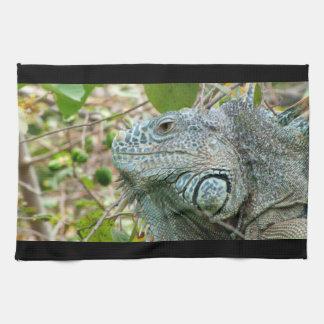 Iguana Profile Hand Towel