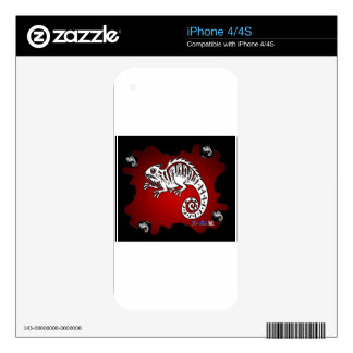 IGUANA RED BACKGROUND PRODUCTS DECAL FOR iPhone 4S