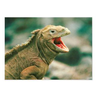 Iguana Says Rawr 5x7 Paper Invitation Card