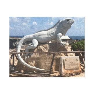 Iguana Sculpture Isla Mujeres, Mexico Canvas