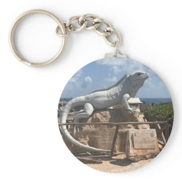 everydaylifesf Iguana Sculpture Isla Mujeres, Mexico Keychain