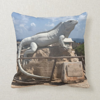 Iguana Sculpture Isla Mujeres, Mexico Pillow