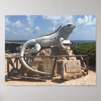 Iguana Sculpture Isla Mujeres, Mexico Poster