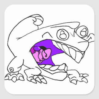 Iguana Square Sticker