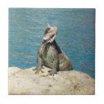 Iguana Tropical Animal Photography Small Square Tile