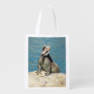 Iguana Tropical Wildlife Grocery Bag