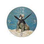 Iguana Tropical Wildlife Round Clock