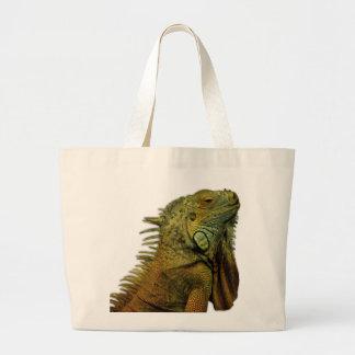 Iguana verde bolsas de mano