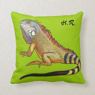 iguana verde almohadas
