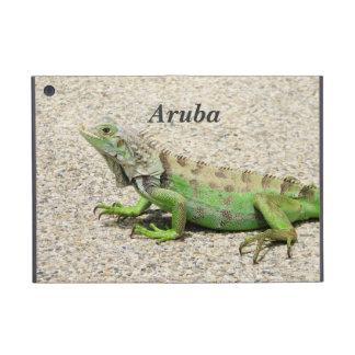 Iguana verde de Aruba iPad Mini Fundas