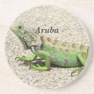 Iguana verde de Aruba Posavasos Diseño