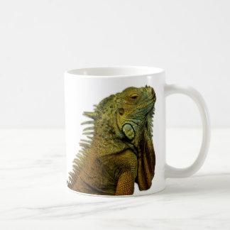 Iguana verde tazas de café