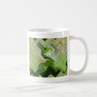 Iguana verde taza de café