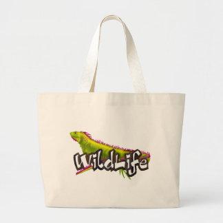 Iguana WildLife Large Tote Bag