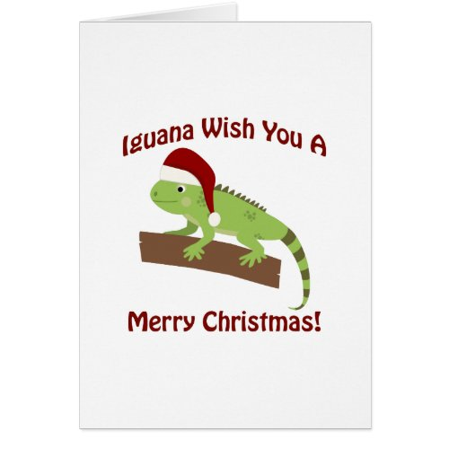 Iguana Wish you a Merry Christmas Card Sales 8328